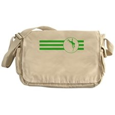 Pole Vaulter Stripes (Green) Messenger Bag