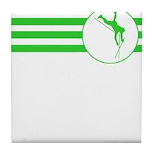 Pole Vaulter Stripes (Green) Tile Coaster