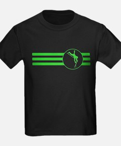 Pole Vaulter Stripes (Green) T-Shirt