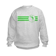 Pole Vaulter Stripes (Green) Sweatshirt