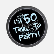 I'm 50 time to party Wall Clock