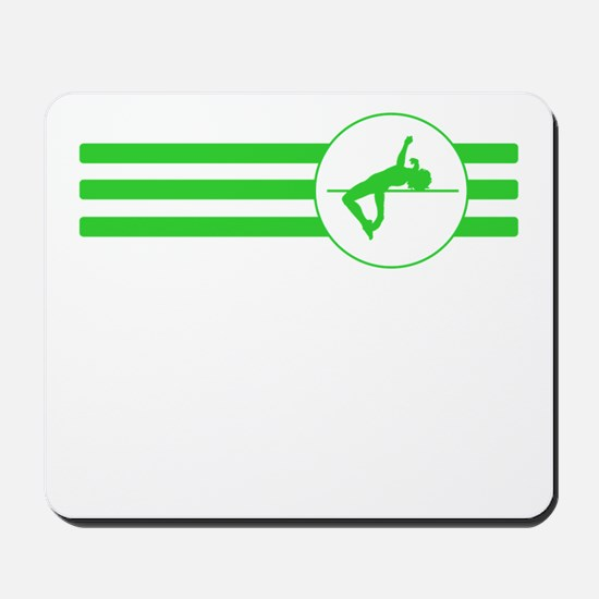 High Jump Stripes (Green) Mousepad