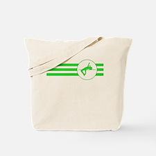 High Jump Stripes (Green) Tote Bag