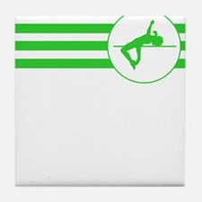 High Jump Stripes (Green) Tile Coaster