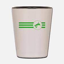 High Jump Stripes (Green) Shot Glass