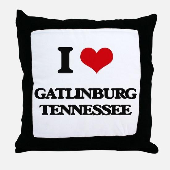 I love Gatlinburg Tennessee Throw Pillow