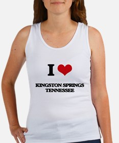 I love Kingston Springs Tennessee Tank Top