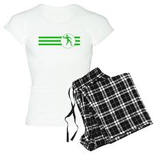 Racquetball Player Stripes (Green) Pajamas