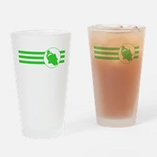 Motorcycle Racing Stripes (Green) Drinking Glass