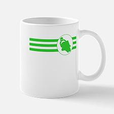 Motorcycle Racing Stripes (Green) Mugs