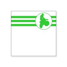 Motorcycle Racing Stripes (Green) Sticker