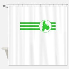Motorcycle Racing Stripes (Green) Shower Curtain