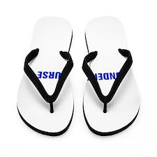 Underpaid nurse-Akz blue 500 Flip Flops