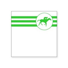 Horse Racing Stripes (Green) Sticker