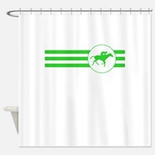 Horse Racing Stripes (Green) Shower Curtain