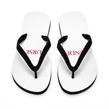 Underpaid nurse-Opt red 550 Flip Flops