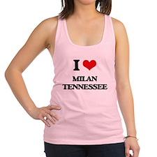 I love Milan Tennessee Racerback Tank Top