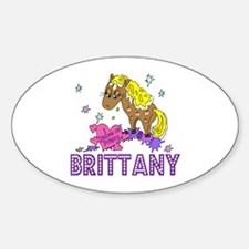 I Dream of Ponies Brittany Oval Decal