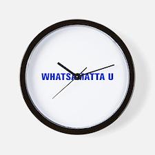 Whatsamatta U-Akz blue 500 Wall Clock