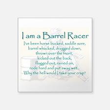 I Am A Barrel Racer Sticker