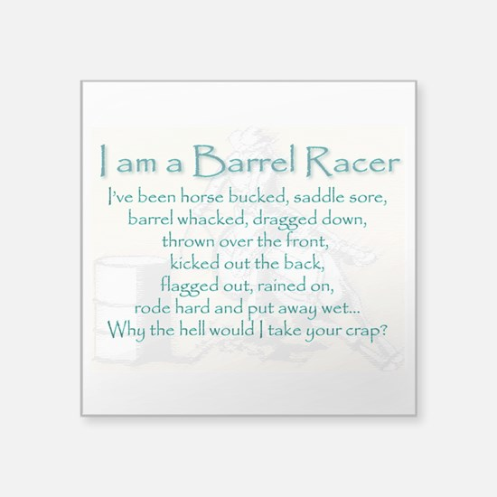 I Am A Barrel Racer Sticker