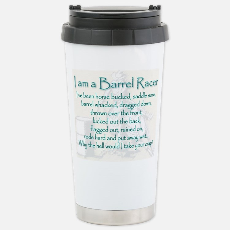 I am a Barrel Racer Travel Mug