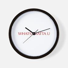 Whatsamatta U-Opt red 550 Wall Clock