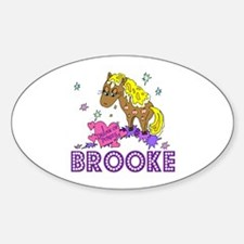 I Dream of Ponies Brooke Oval Decal