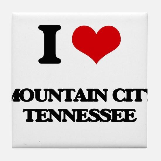 I love Mountain City Tennessee Tile Coaster