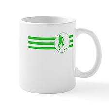 Field Hockey Stripes (Green) Mugs