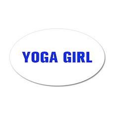 Yoga Girl-Akz blue 500 Wall Decal