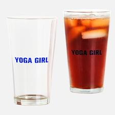 Yoga Girl-Akz blue 500 Drinking Glass