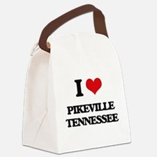 I love Pikeville Tennessee Canvas Lunch Bag