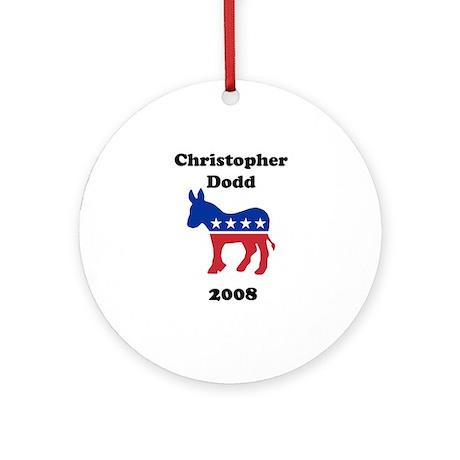 Christopher Dodd Ornament (Round)
