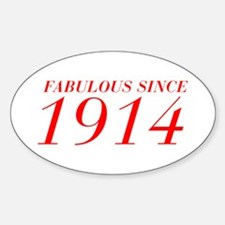 FABULOUS SINCE 1914-Bod red 300 Decal