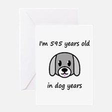 85 dog years 2 - 2 Greeting Cards