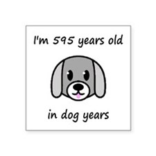 85 dog years 2 - 2 Sticker
