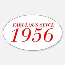 FABULOUS SINCE 1956-Bod red 300 Decal