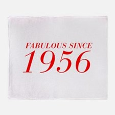 FABULOUS SINCE 1956-Bod red 300 Throw Blanket