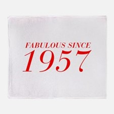 FABULOUS SINCE 1957-Bod red 300 Throw Blanket
