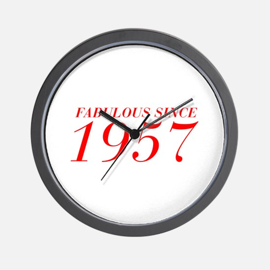 FABULOUS SINCE 1957-Bod red 300 Wall Clock
