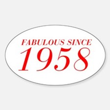 FABULOUS SINCE 1958-Bod red 300 Decal