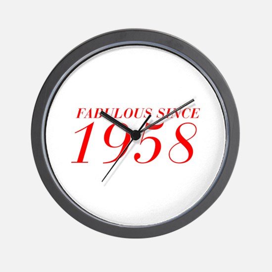 FABULOUS SINCE 1958-Bod red 300 Wall Clock