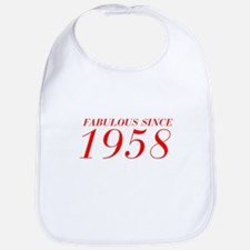 FABULOUS SINCE 1958-Bod red 300 Bib