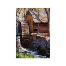 Onderdonk - The Old Town Mill-New Rectangle Magnet