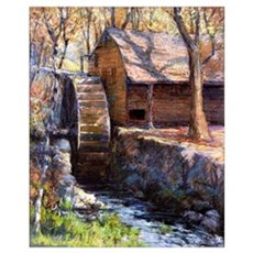 Onderdonk - The Old Town Mill-New London, Connecti Poster