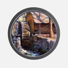 Onderdonk - The Old Town Mill-New Londo Wall Clock