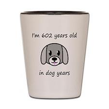 86 dog years 2 Shot Glass