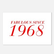FABULOUS SINCE 1968-Bod red 300 Postcards (Package