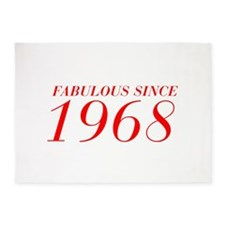FABULOUS SINCE 1968-Bod red 300 5'x7'Area Rug